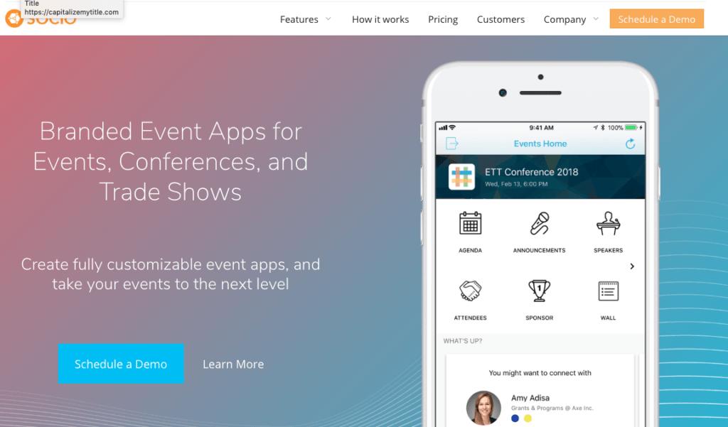 Die besten Event-Apps: Socio.