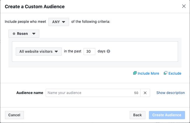Das Facebook-Retargeting für Events: Das erstellen einer benutzerdefinierten Zielgruppe
