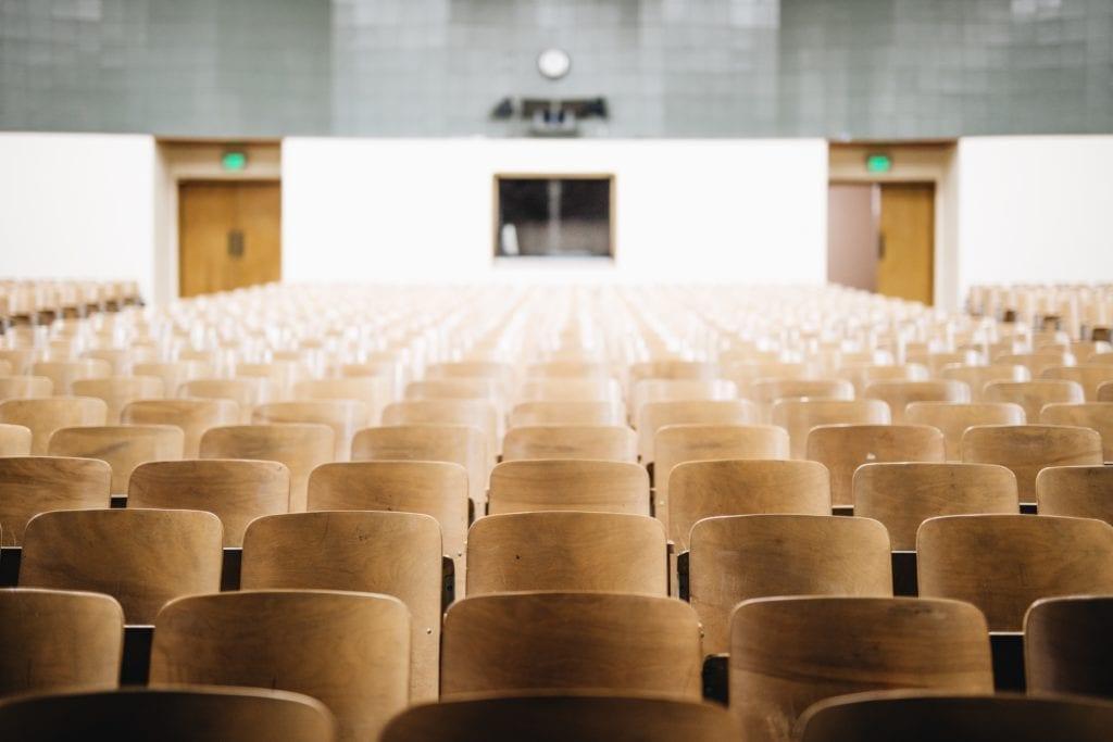 Die Arten der Austragungsorte für Events: Universitäten.