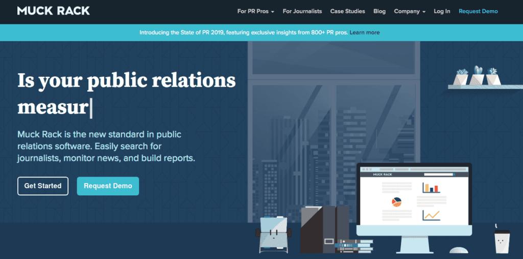 Tools für die Sicherung einer Event-Medienpartnerschaft: Muck Rack