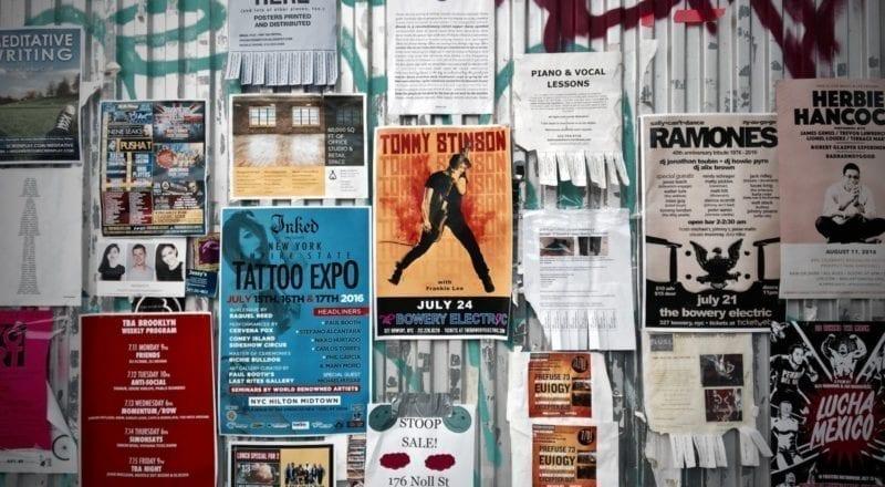Offline-Event-Promotion: Plakate
